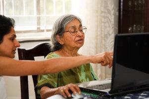 patient using computer